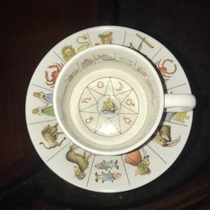 Astrology tea cup and saucer